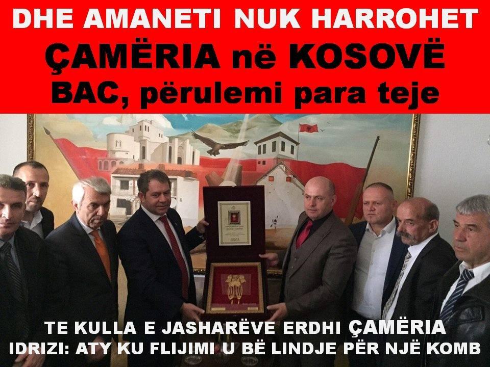 BAC, ÇAMËRIA në KOSOVË: PA KOSOVË E ÇAMËRI S'KA SHQIPËRI