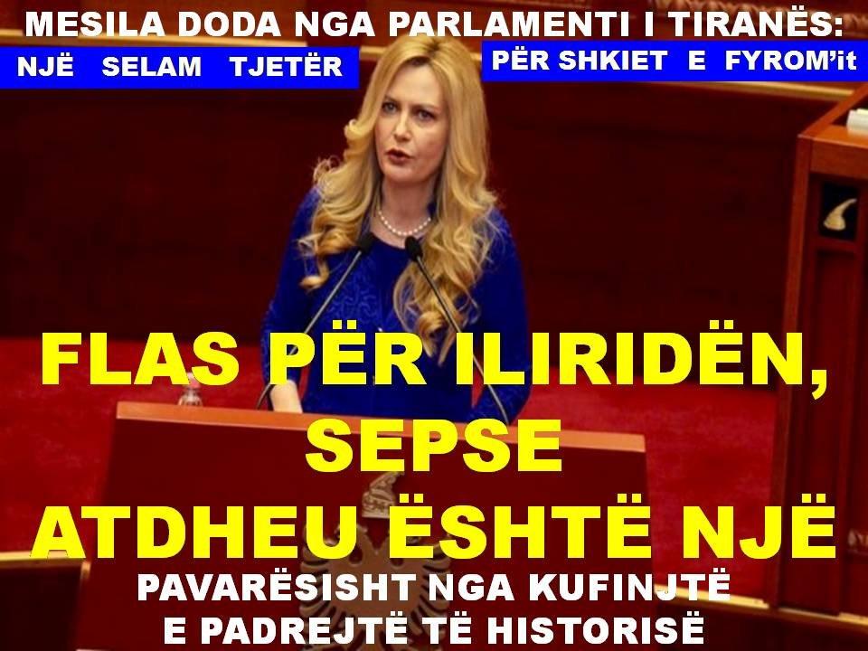 DODA: NJË SELAM TJETËR PËR SHKIET  E  FYROM'it