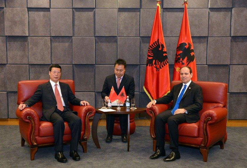 Presidenti Nishani priti Zv/Kryeministrin Kinez Zhang Gaoli