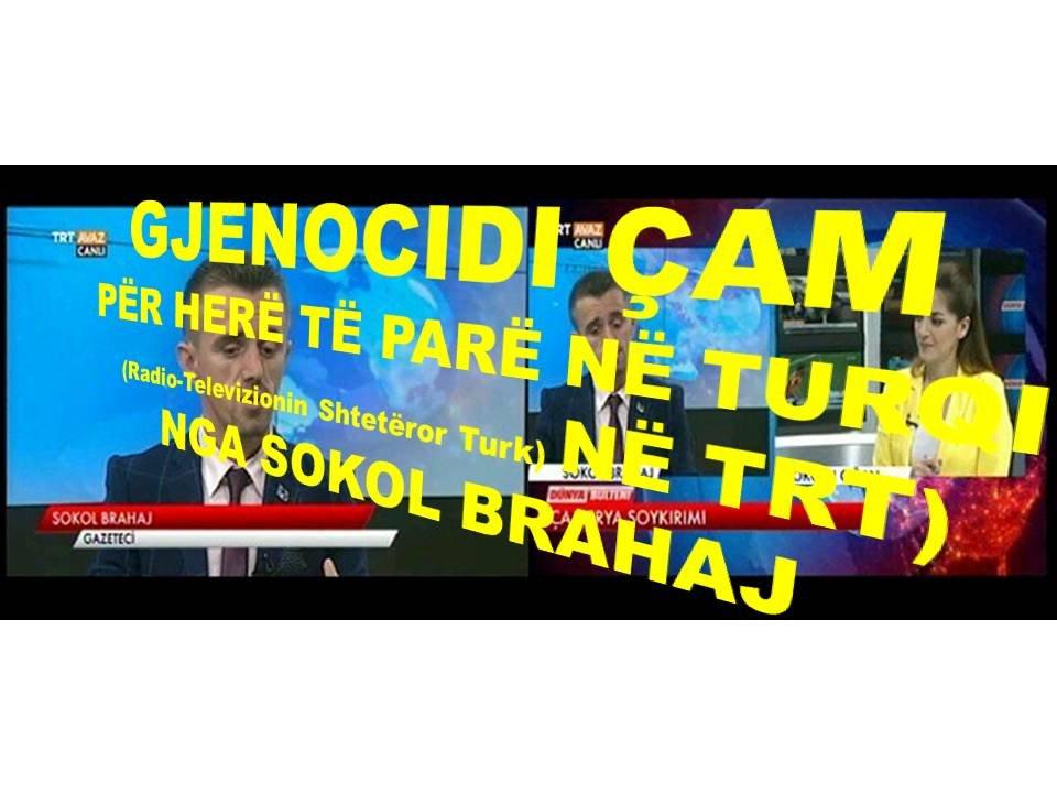 GJENOCIDI ÇAM, SOKOL BRAHAJ FLET PËR HERË TË PARË NË TV'NË SHTETËROR TURK, TRT