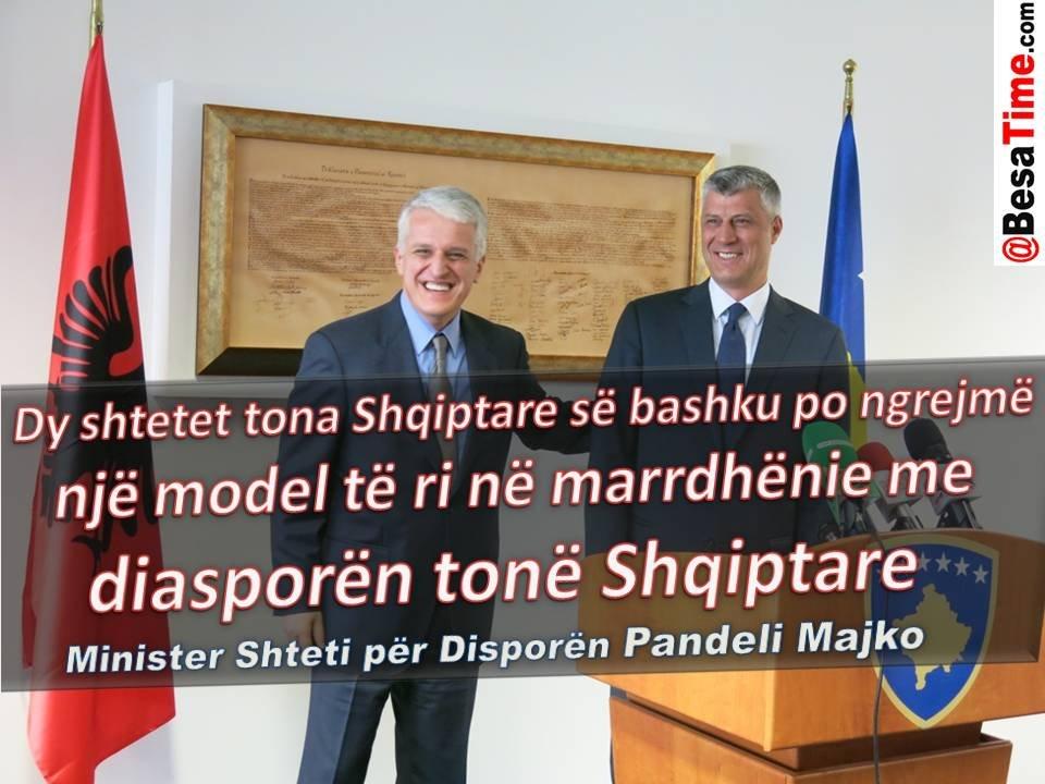 Pandeli Majko: Dy shtetet tona Shqiptare së bashku po ngrejmë një model të ri në marrdhënie me diasporën tonë Shqiptare