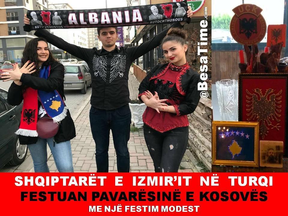 SHQIPTARËT  E  IZMIR'IT  NË  TURQI FESTUAN PAVARËSINË E KOSOVËS ME NJË FESTIM MODEST