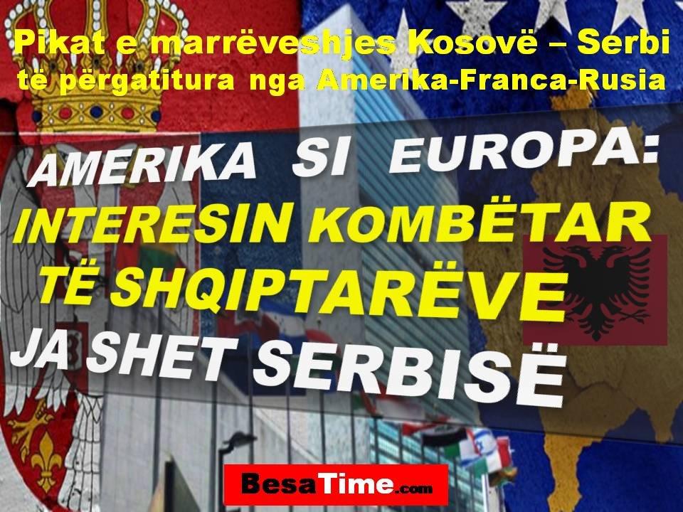 AMERIKA SI  EUROPA: INTERESIN KOMBËTAR TË SHQIPTARËVE JA SHET SERBISË