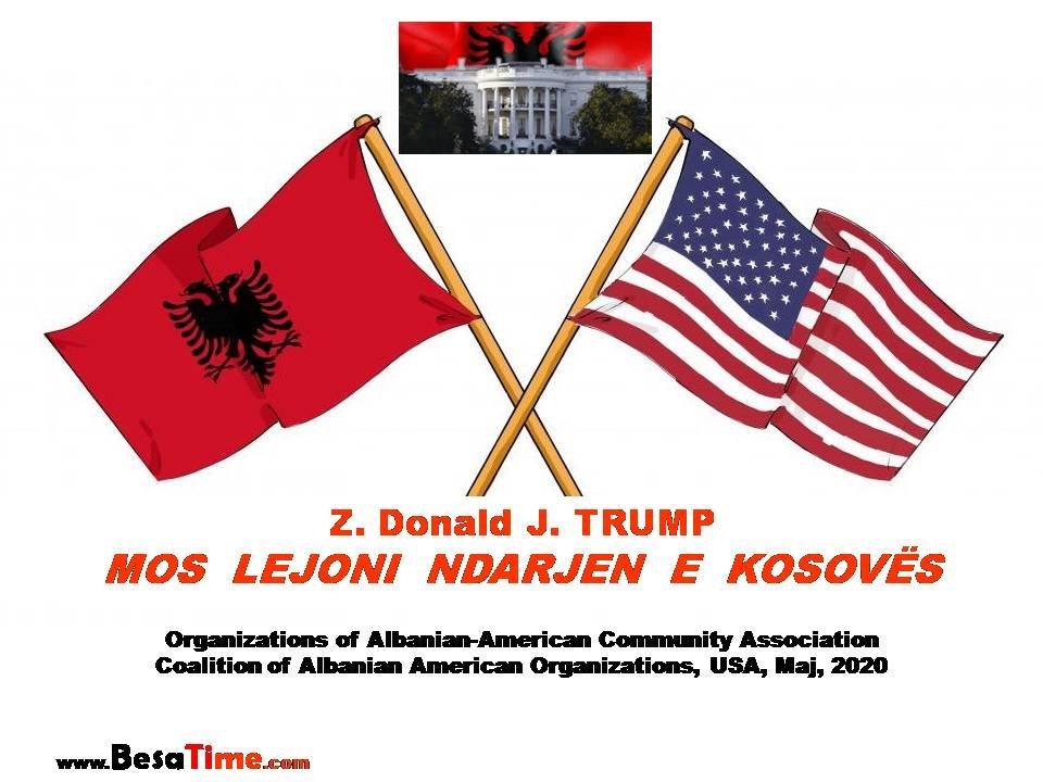 Z. TRUMP MOS LEJONI NDARJEN E KOSOVËS