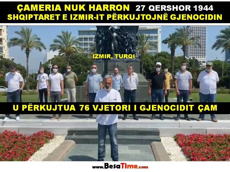 ÇAMERIA NUK HARRON, SHQIPTARET E IZMIR-IT PËRKUJTOJNË 76 VJETORIN E GJENOCIDIT ÇAM│IBRAHIM TOPALLI
