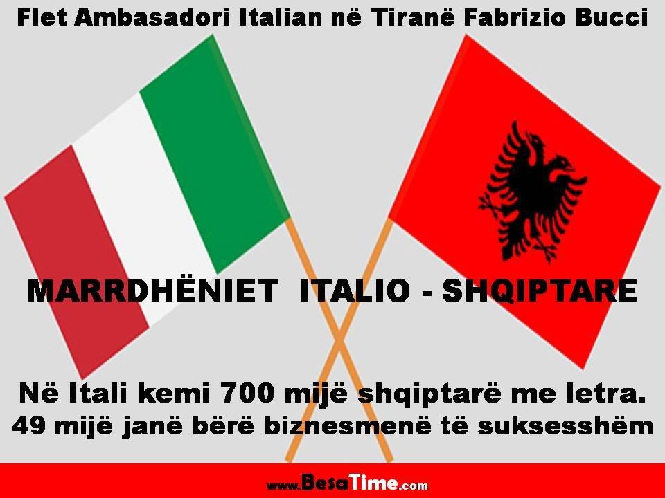 MARRDHЁNIET ITALIO-SHQIPTARE:  Shqiptarët e Italisë dhe Italianët e Shqipërisë
